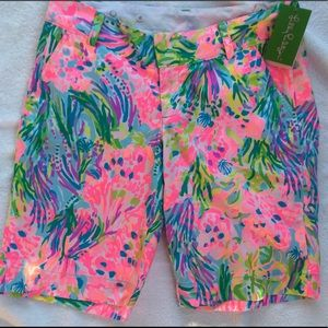NWT LILLY PULITZER FANSEA PANTS 2 CHIPPER SHORT